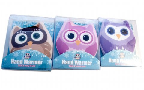 3 Pack Owl Design Click and Go Hand Wamers - Reuseable